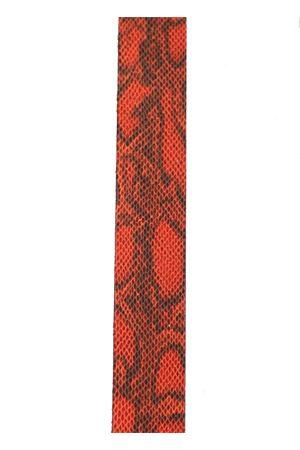 Red python print capri sandals  Da Costanzo | 5032256 | 3FASCEROSSOPITONE