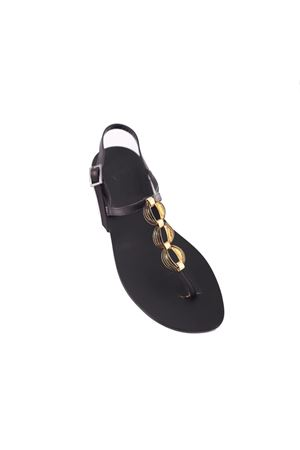 Capri sandal with gold jewel chain Da Costanzo | 5032256 | CHAINSNERO