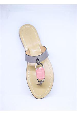 Pink jewel Capri sandals  Da Costanzo | 5032256 | FASCIABIGSTONECANNADIFUCILE