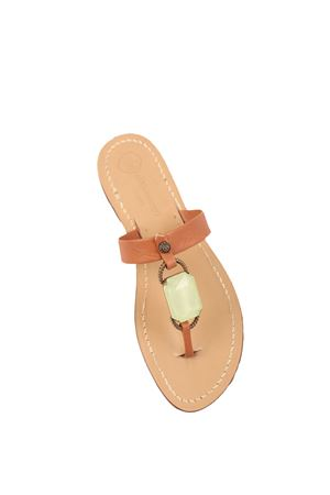 Green stone Da Costanzo Capri jewel sandals  Da Costanzo | 5032256 | FASCIABIGSTONEVERDE