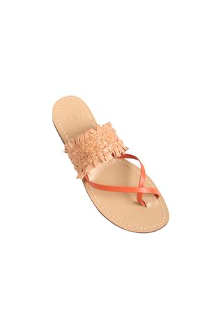 Twisted leather Capri sandals  Da Costanzo | 5032256 | FORCAPELLETRARANCIONE