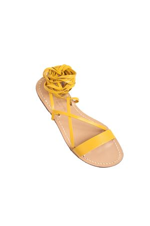 Yellow gladiator sandals non-flip flop model  Da Costanzo | 5032256 | GLADIATOREFASCIAGIALLO