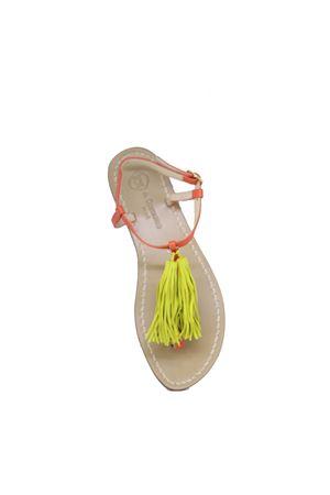 Handcrafted Capri Sandals with tassels Da Costanzo | 5032256 | NAPPINE2PARANCIONE
