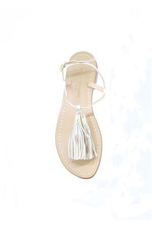 White handcrafted Capri Sandals Da Costanzo | 5032256 | NAPPINE2PBIANCO