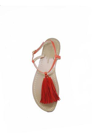 Handcrafted Capri Sandals with red tassels Da Costanzo | 5032256 | NAPPINE2PELLEARANCIONE