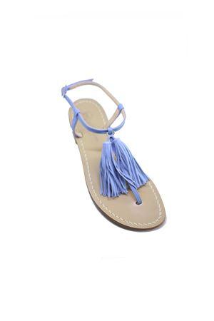 Light blue sandals with tassels  Da Costanzo | 5032256 | NAPPINE2PELLEAZZURRO