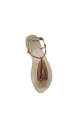 Handcrafted Capri sandals Da Costanzo | 5032256 | NAPPINE2PELLEBEIGE