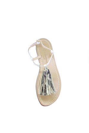 Handcrafted Capri sandals Da Costanzo | 5032256 | NAPPINE2PELLEBIANCO