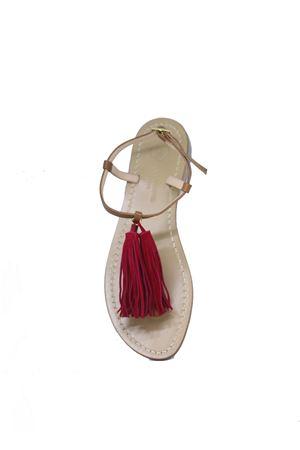Capri Sandals with red tassels Da Costanzo | 5032256 | NAPPINE2PELLEMARRONE