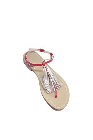 Original Capri Sandals with tassels Da Costanzo | 5032256 | NAPPINE2PELLEROSSO