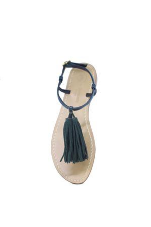 Handcrafted green Capri Sandals Da Costanzo | 5032256 | NAPPINE2PELLEVERDE