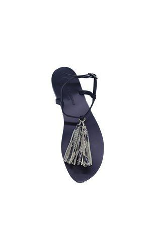 Black Capri Sandals with tassels Da Costanzo | 5032256 | NAPPINE2PENERO