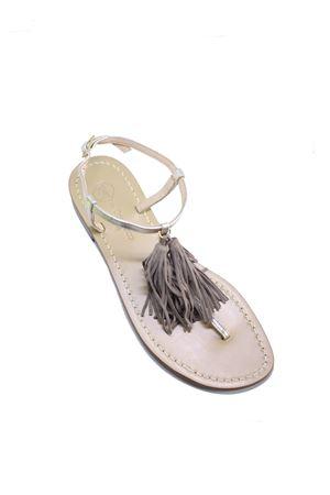 Platinum sandals with tassels  Da Costanzo | 5032256 | NAPPINE2PPLATINO