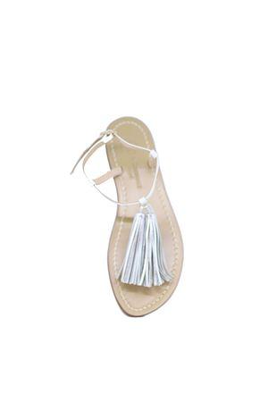 White Capri Sandals with tassels Da Costanzo | 5032256 | NAPPINEBIANCO