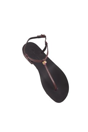 Flip flop Capri Sandals with central jewel  Da Costanzo | 5032256 | PUNTO LUCE TVIOLA