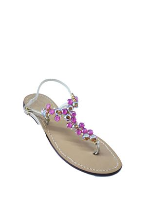 2e398d405 Fuchsia jeweled Capri sandals from Da Costanzo shop Da Costanzo