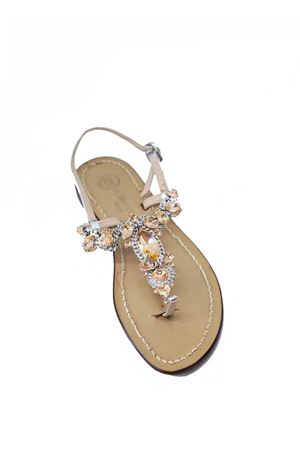 Peach jeweled Capri sandals from Da Costanzo shop  Da Costanzo | 5032256 | S3697PESCA