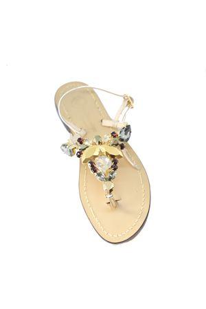 Golden jewel Capri sandals  Da Costanzo | 5032256 | S4196GOLD