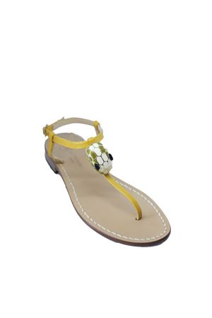 Yellow flip flop sandals with snake head  Da Costanzo | 5032256 | SNAKEHEADGIALLO