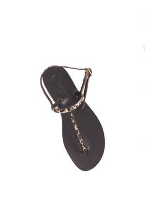 Leopard print flip flop Capri sandals Da Costanzo | 5032256 | TGHEPARDGHEPARDATO