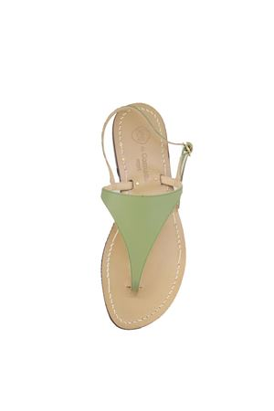 Green triangle Capri sandals  Da Costanzo | 5032256 | TRIANGOLONEWVERDE