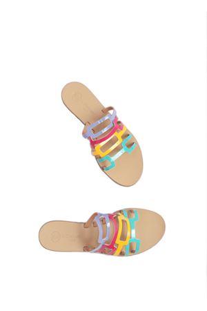 Sandali bassi non infradito in pelle verniciata Da Costanzo | 5032256 | TV2672VFUXIA