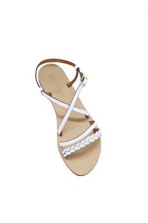 Handmade leather Capri Sandals Da Costanzo | 5032256 | TV2726BIANCO