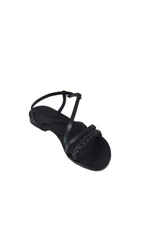Handmade Black Leather Capri Sandals Da Costanzo | 5032256 | TV2726NERO
