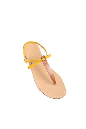 Yellow and brown Capri sandals  Da Costanzo | 5032256 | VXMARRONE