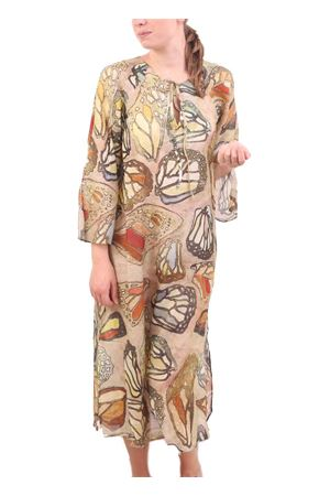Long kaftan with butterfly wings  Eco Capri | 5032233 | CAFTLDFARFALLE