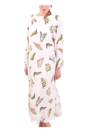 White long tunic with butterflies Eco Capri | 5032233 | CFTLDFARFALLA
