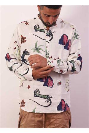 Camicia da uomo con fantasie della lucertola di Capri Eco Capri | 6 | CMCKORLIZARD