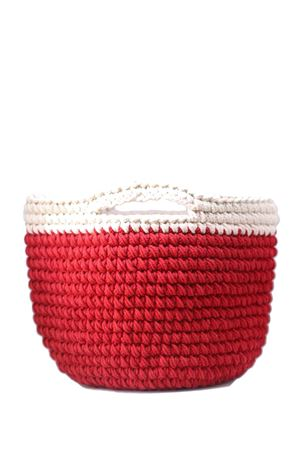 Red crochet handbag Eco Capri | 31 | CRBKTREDROSSO