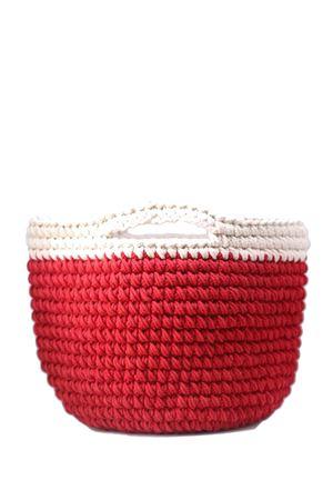 Borsa rossa a mano in crochet Eco Capri | 31 | CRBKTREDROSSO