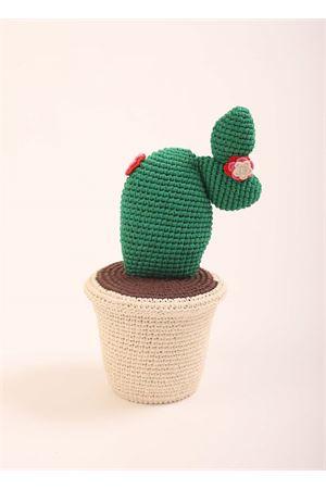 Cuscino a forma di cactus con vaso in crochet Eco Capri | 20000024 | CROCCTA031309CACTUS