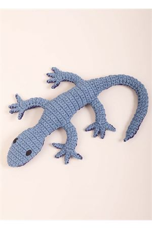 Blue lizard shaped pillow  Eco Capri | 20000024 | CROL2RA04BLULUCERTOLA BLU XL
