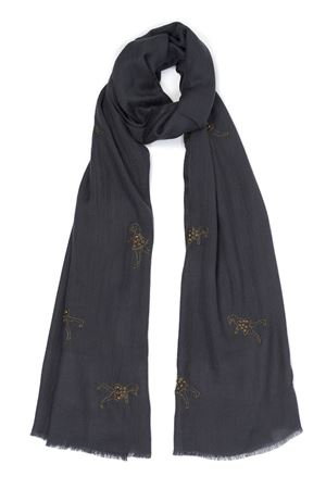 Blue pure cashmere scarf Eco Capri | 77 | CSHDNCCHBALLERINE CHARCOAL