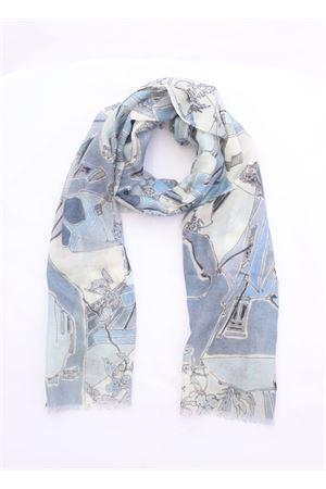 Scarf 100% Cashmere blue color Eco Capri | 77 | CSHPZZBL70200PIAZZETTA