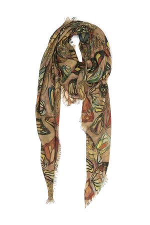 Silk and modal scarf with butterfky wings  Eco Capri | 77 | MDSLBTT140BUTTERFLY