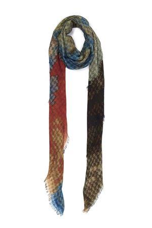 Vesuvio of Naples pattern silk and modal scarf  Eco Capri | 77 | MDSLVSV140VESUVIO
