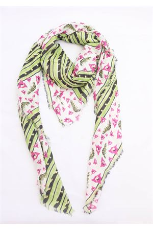 Silk scarf and fancy modal Eco Capri | 77 | MOLBGNVLLMULTIGREEN