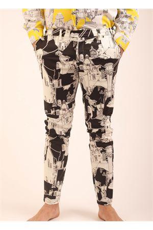 Pantaloni da uomo sartoriali con architettura di Capri neri Eco Capri | 9 | MPNCPRBKBAPRIBLACK