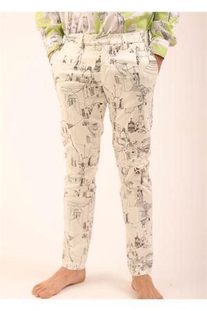 Pantaloni da uomo sartoriali con fantasia di Capri Eco Capri | 9 | MPNCPRMRCAPRIBLACKMASHMALLOW