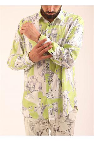 Camicia da uomo con fantasia di Capri su base verde Eco Capri | 6 | MSHACPRGRVERDECAPRI
