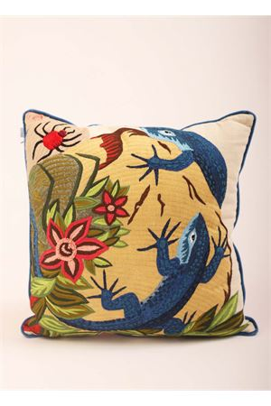 Large pillow with two blue lizards  Eco Capri | 20000024 | PIL401A5000001944
