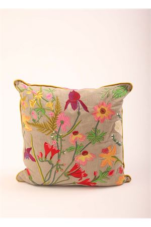 Embroidered pillow with Flora of Capri Island  Eco Capri | 20000024 | PIL404A350000FLORA CAPRESE