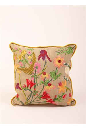 Flora of Capri Island embroidered pillow  Eco Capri | 20000024 | PIL404A5000001952