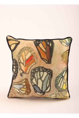 Butterfly wings pillow  Eco Capri | 20000024 | PILSLK45BTTRFMULTICOLOR