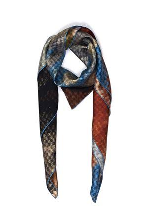Vesuvius print silk scarf  Eco Capri | -709280361 | SLKVSV110VESUVIO