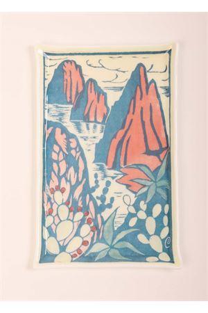 Murano glass tray with Faraglioni  Eco Capri | 20000026 | WL2315FRGLVASSOIO FARAGLIONI